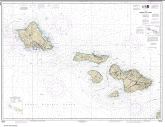 Buy map Hawai���i to O���ahu Nautical Chart (19340) by NOAA from United States Maps Store
