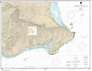 Buy map Southeast Coast of O���ahu Waimanalo Bay to Diamond Head Nautical Chart (19358) by NOAA from Hawaii Maps Store