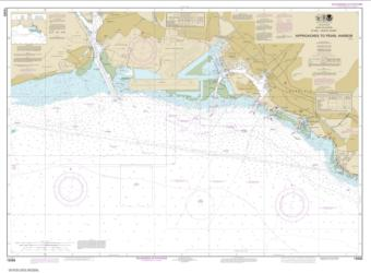 Buy map O���ahu South Coast Approaches to Pearl Harbor Nautical Chart (19369) by NOAA from United States Maps Store