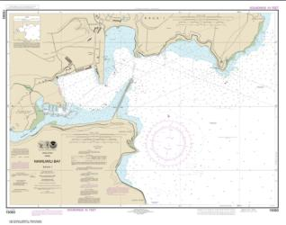 Buy map Kaua���i Nawiliwili Bay Nautical Chart (19383) by NOAA from Hawaii Maps Store