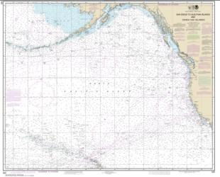 Buy map North America West Coast San Diego to Aleutian Islands and Hawai���ian Islands Nautical Chart (530) by NOAA from United States Maps Store