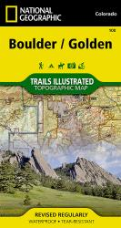 Buy map Boulder and Golden, Colorado, Map 100 by National Geographic Maps from Colorado Maps Store