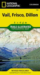 Buy map Vail, Frisco and Dillon, Colorado, Map 108 by National Geographic Maps from Colorado Maps Store