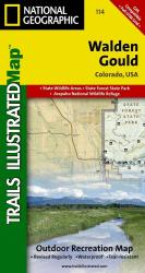 Buy map Walden and Gould, Colorado, Map 114 by National Geographic Maps from Colorado Maps Store