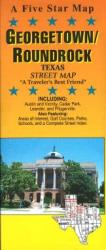 Buy map Georgetown and Round Rock, Texas by Five Star Maps, Inc. from Texas Maps Store