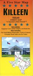 Buy map Killeen, Texas by Five Star Maps, Inc. from Texas Maps Store