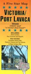 Buy map Victoria and Port Lavaca, Texas by Five Star Maps, Inc. from Texas Maps Store