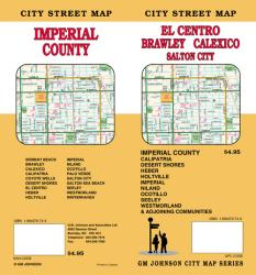 Buy map El Centro, Imperial County, Brawley and Calexico, California by GM Johnson from California Maps Store