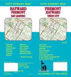 Buy map Fremont, Hayward and Union City, California by GM Johnson from California Maps Store