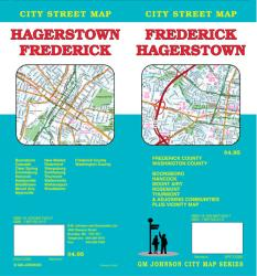 Buy map Frederick and Hagerstown, Maryland by GM Johnson from Maryland Maps Store