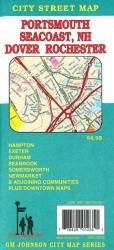 Buy map Portsmouth, Dover, Rochester and New Hampshire Coast Beaches by GM Johnson in New Hampshire Map Store