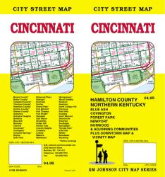 Buy map Cincinnati, Ohio by GM Johnson from Ohio Maps Store