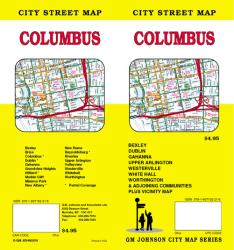Buy map Columbus, Ohio by GM Johnson from Ohio Maps Store
