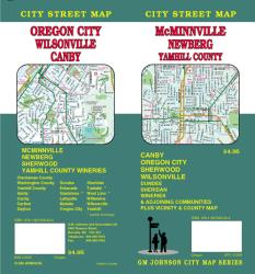 Buy map McMinnville, Newberg, Oregon City, Canby, Wilsonville and Yamhill County, Oregon by GM Johnson from Oregon Maps Store
