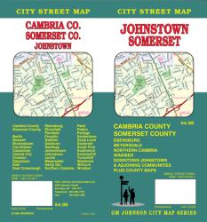 Buy map Johnstown, Somerset, Cambria and Somerset County, Pennsylvania by GM Johnson