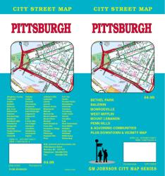 Buy map Pittsburgh, Pennslyvania by GM Johnson