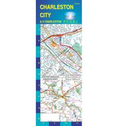 Buy map Charleston and South Charleston, West Virginia, Pearl Map, laminated by GM Johnson from South Carolina Maps Store