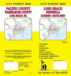 Buy map Long Beach Peninsula, Raymond and South Bend, Washington by GM Johnson from Washington Maps Store