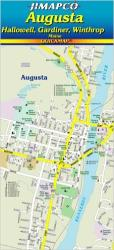 Buy map Augusta, Maine, Quickmap by Jimapco from Maine Maps Store