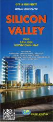 Buy map Silicon Valley, California by Global Graphics from California Maps Store