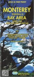 Buy map Monterey Peninsula, Santa Cruz and Bay Area, California by Global Graphics