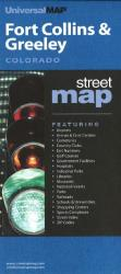 Buy map Ft. Collins and Greeley, Colorado by Kappa Map Group