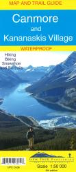 Buy map Canmore and Kananaskis Village, Alberta, Map and Guide, waterproof by Gem Trek