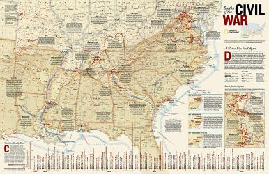 Buy map Battles of the Civil War, Tubed by National Geographic Maps from United States Maps Store