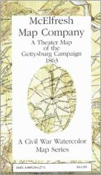 Buy map Gettysburg Battlefield Theater, Pennsylvania by McElfresh Map Co.