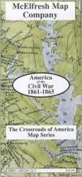 Buy map America of the Civil War, 1861-1865 by McElfresh Map Co. from United States Maps Store