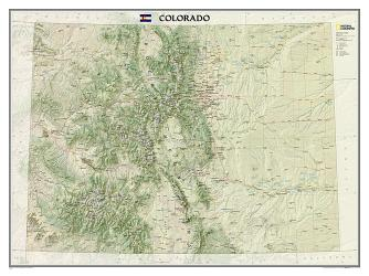 Buy map Colorado, Tubed by National Geographic Maps