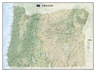 Buy map Oregon, Tubed by National Geographic Maps from Oregon Maps Store