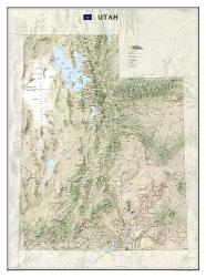 Buy map Utah, tubed by National Geographic Maps from Utah Maps Store