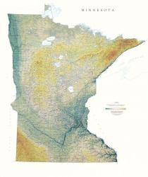Buy map Minnesota, Physical, laminated by Raven Press from Minnesota Maps Store