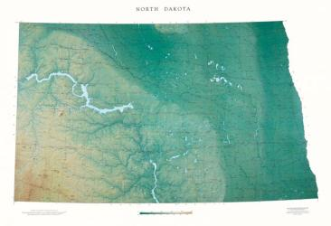 Buy map North Dakota, Physical, laminated by Raven Press from North Dakota Maps Store