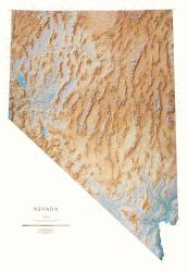 Buy map Nevada, Physical, laminated by Raven Press in Nevada Map Store