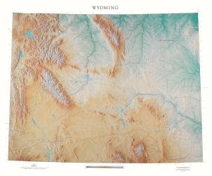 Buy map Wyoming, Physical, laminated by Raven Press from Wyoming Maps Store