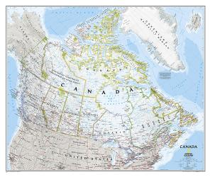 Buy map Canada, Laminated by National Geographic Maps from Canada Maps Store