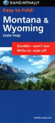 Buy map Montana and Wyoming, Easy to Fold by Rand McNally from United States Maps Store
