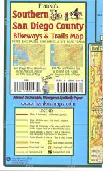Buy map California Map, San Diego Bikeways, Southern, folded, 2010 by Frankos Maps Ltd.