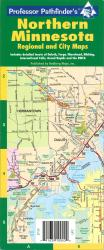 Buy map Minnesota, North, laminated by Hedberg Maps from Minnesota Maps Store