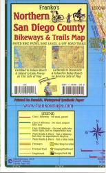 Buy map California Map, San Diego Bikeways, Northern, folded, 2010 by Frankos Maps Ltd. from California Maps Store