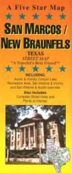 Buy map San Marcos, New Braunfels and Canyon Lake, Texas by Five Star Maps, Inc. from Texas Maps Store