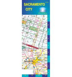 Buy map Sacramento, California, Pearl Map, laminated by GM Johnson from California Maps Store