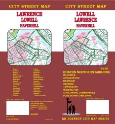 Buy map Lowell, Lawrence and Haverhill, Massachusetts by GM Johnson from Massachusetts Maps Store
