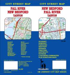 Buy map Fall River, New Bedford and Taunton, Massachusetts by GM Johnson