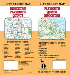 Buy map Plymouth, Quincy, Brockton and Bostons South Shore Towns, Massachusetts by GM Johnson