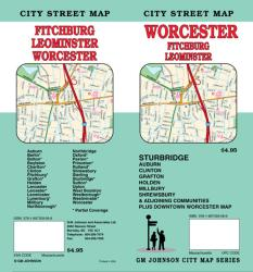 Buy map Worcester, Sturbridge, Leominster and Fitchburg, Massachusetts by GM Johnson from Massachusetts Maps Store