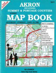 Buy map Akron, Ohio including Summit and Portage Counties by GM Johnson from Ohio Maps Store