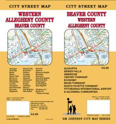 Buy map Beaver County and Western Allegheny County, Pennsylvania by GM Johnson